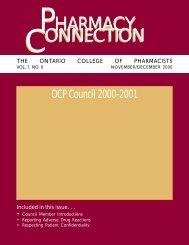 PHARMACY PHARMACY - Ontario College of Pharmacists