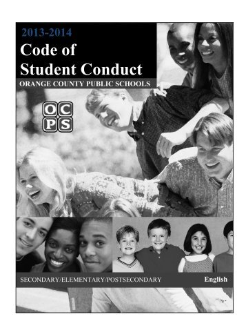 Code of Conduct - Orange County Public Schools
