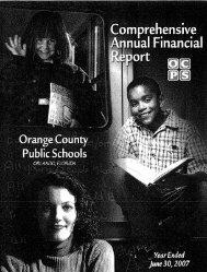 2007 CAFR - Orange County Public Schools