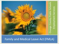Family and Medical Leave Act (FMLA) - Orange County Public Schools