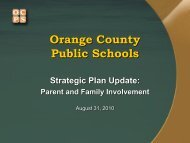 Parent and Family Involvement - Orange County Public Schools