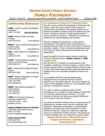 FAMILY FOOTPRINTS - Orange County Public Schools