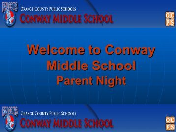 Welcome to Conway Middle School Parent Night