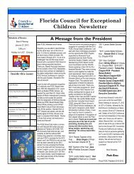 Florida Council for Exceptional Children Newsletter - Orange County ...