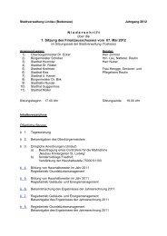 Inhaltsverzeichnis 07052012