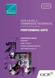 Level 3 - Unit 57 - Arranging music (PDF, 290KB) - OCR