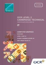Level 2 - Unit 10 - Computer graphics - OCR