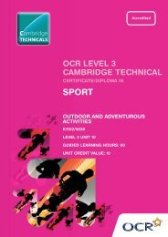 Level 3 - Unit 10 - Outdoor and adventurous activities - OCR
