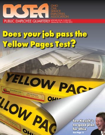 Does your job pass the Yellow Pages Test? - OCSEA