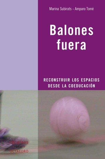 Balones fuera - Editorial Octaedro