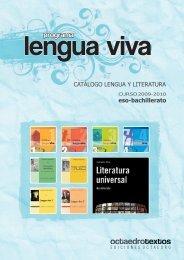 catálogo lengua y literatura