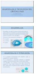 patologia del cristallino - Clinica Oculistica Universitaria di Pisa