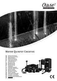 Water Quintet Creative - instrukcja Oase