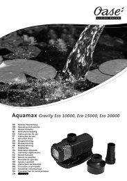 Aquamax Gravity Eco 10000, Eco 15000, Eco 20000 - Oase