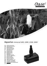 Aquarius Universal 600, 1000, 1500, 2000 - Oase