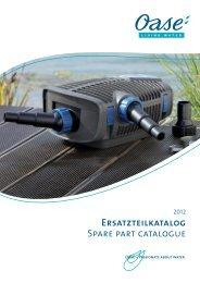 katalog czesci zamiennych Oase 2012
