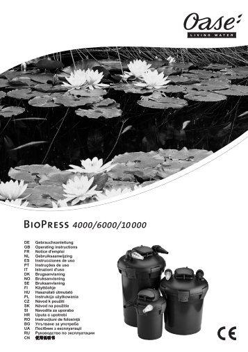 BioPress 4000/6000/10000 - Oase