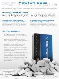OCZ Vector SSD Product Sheet