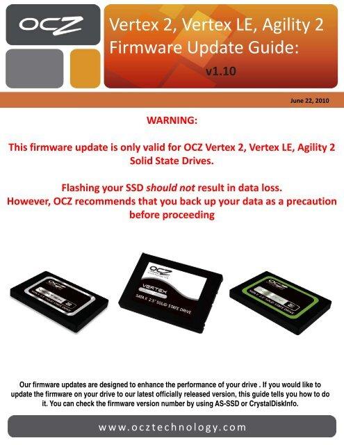 Summit SSD Firmware Update Guide – OCZ Technology