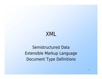 001.03 Semistructured Data XML - ODBMS