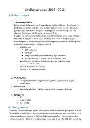 Kvalitetsgrupper 2012 - 2013 - Odder Gymnasium