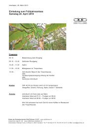 Einladung zum Frühjahrsanlass Samstag 24. April 2010 - Orden der ...
