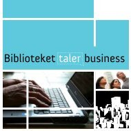 Biblioteket taler business - Odense Centralbibliotek