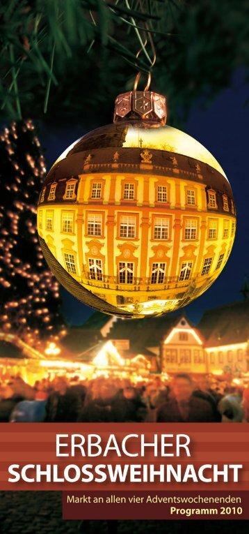 Programm Erbacher Schlossweihnacht - Odenwald