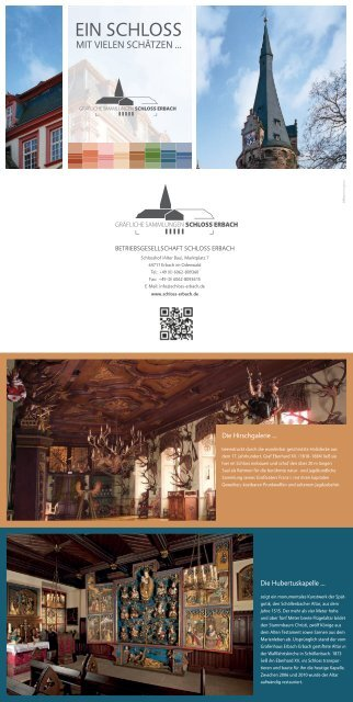 Faltblatt Gräfliche Sammlungen Schloss Erbach (PDF) - Odenwald