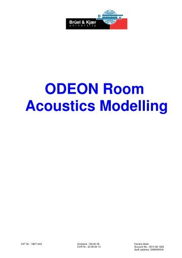 ODEON Room Acoustics Modelling