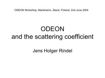 ODEON and scattering.pdf