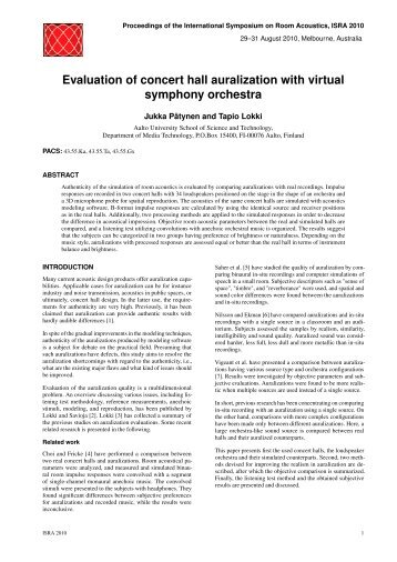 Evaluation of concert hall auralization with virtual symphony orchestra