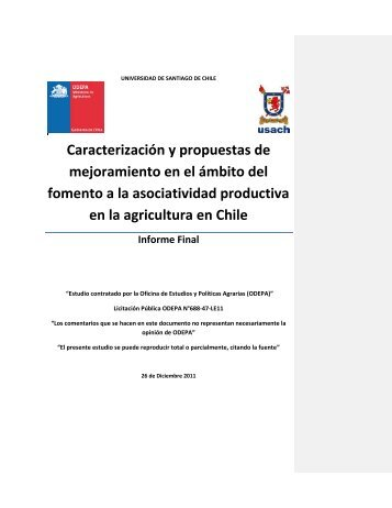 Caracterización y propuestas de mejoramiento en el ámbito ... - Odepa