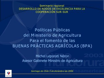 Políticas Públicas del Ministerio de Agricultura Para el fomento de ...