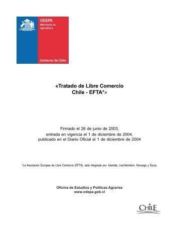 «Tratado de Libre Comercio Chile - EFTA*» - Odepa