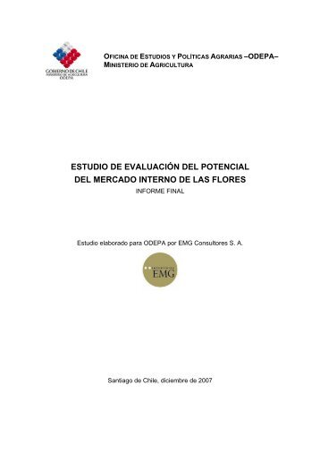ESTUDIO DE EVALUACIÓN DEL POTENCIAL DEL ... - Odepa