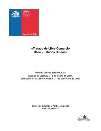 «Tratado de Libre Comercio Chile - Estados Unidos» - Odepa