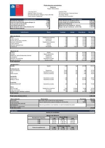 Ficha de espinaca Región Metropolitana 2013.pdf - Odepa