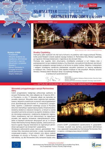 4/2009 Newsletter Partnerstwo odry - Oder-Partnerschaft