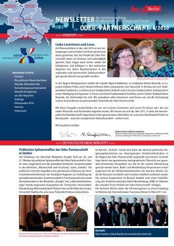 Newsletter Oder-Partnerschaft 4/2010 Zur
