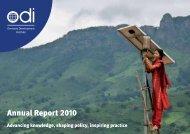 ODI Annual Reports - Overseas Development Institute