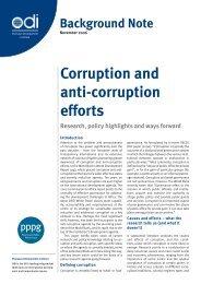 Corruption and anti-corruption efforts - Overseas Development Institute