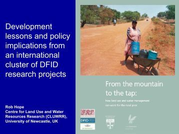 Development lessons and policy implications from an international ...