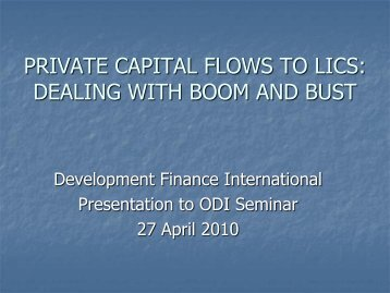Private Capital Flows to LICs - Overseas Development Institute