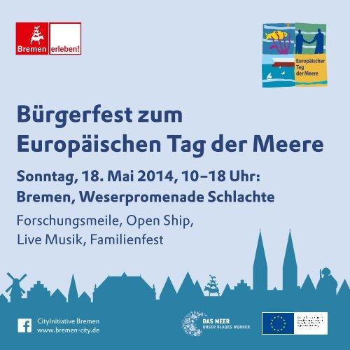 Bürgerfest zum Europäischen Tag der Meere