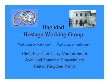 Baghdad hostage working group presentation