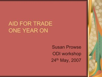 Susan Prowse - Overseas Development Institute
