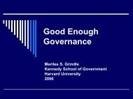Good Enough Governance and the MDGs - Overseas Development ...