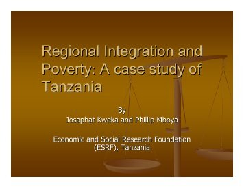 Regional Integration and Poverty - Overseas Development Institute