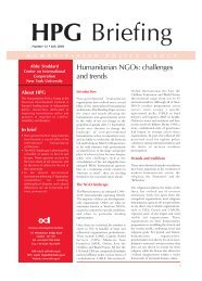 Humanitarian NGOs: challenges and trends - Overseas ...
